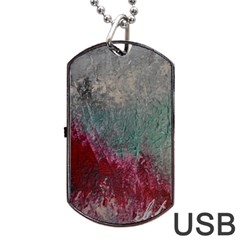 Metallic Abstract 1 Dog Tag Usb Flash (one Side) by timelessartoncanvas