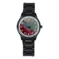 Metallic Abstract 1 Stainless Steel Round Watches by timelessartoncanvas