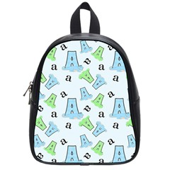 A Is For Alligator Blue School Bags (small)  by SalonOfArtDesigns