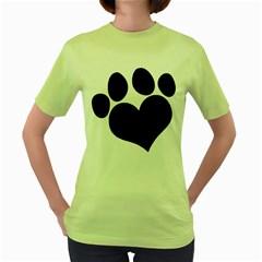 Puppy Love Women s Green T Shirt by ButThePitBull