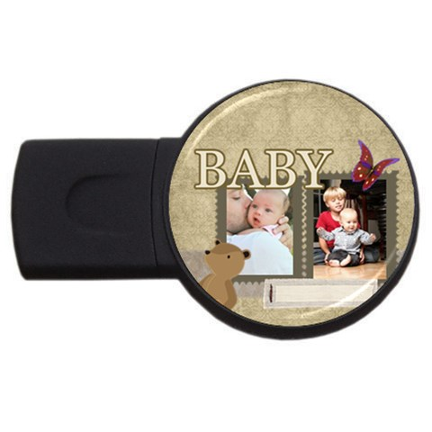 Baby By Baby   Usb Flash Drive Round (2 Gb)   9ittucedt0ym   Www Artscow Com Front
