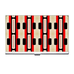 Rectangles And Stripes Pattern 			business Card Holder by LalyLauraFLM