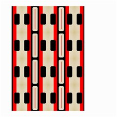 Rectangles And Stripes Pattern Small Garden Flag by LalyLauraFLM