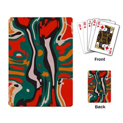 Retro Colors Chaos 			playing Cards Single Design by LalyLauraFLM