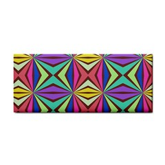 Connected Shapes In Retro Colors  hand Towel by LalyLauraFLM