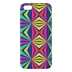 Connected Shapes In Retro Colors  			iphone 5s Premium Hardshell Case by LalyLauraFLM