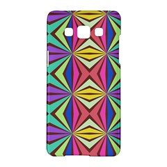 Connected Shapes In Retro Colors  samsung Galaxy A5 Hardshell Case by LalyLauraFLM