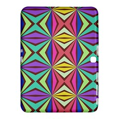 Connected Shapes In Retro Colors  			samsung Galaxy Tab 4 (10 1 ) Hardshell Case by LalyLauraFLM