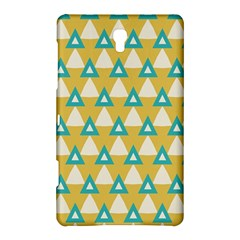 White Blue Triangles Pattern samsung Galaxy Tab S (8 4 ) Hardshell Case by LalyLauraFLM