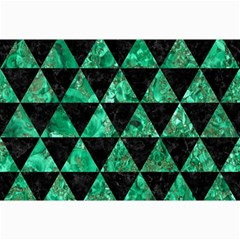 Triangle3 Black Marble & Green Marble Collage 12  X 18  by trendistuff