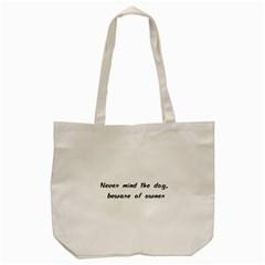Beware Of Owner Tote Bag (cream)  by ButThePitBull