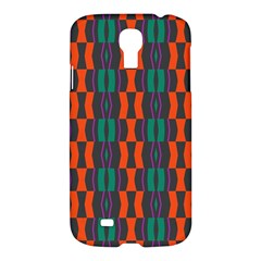 Green Orange Shapes Pattern 			samsung Galaxy S4 I9500/i9505 Hardshell Case by LalyLauraFLM
