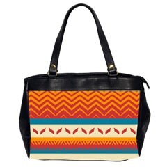 Tribal Shapes  Oversize Office Handbag (2 Sides) by LalyLauraFLM