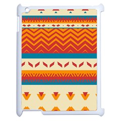 Tribal Shapes  apple Ipad 2 Case (white) by LalyLauraFLM