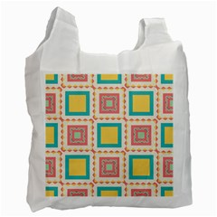 Pastel Squares Pattern 			recycle Bag (one Side) by LalyLauraFLM
