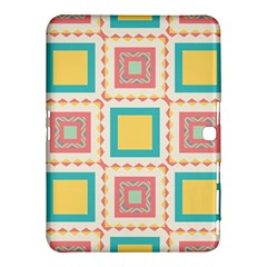 Pastel Squares Pattern 			samsung Galaxy Tab 4 (10 1 ) Hardshell Case by LalyLauraFLM