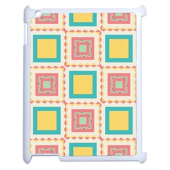 Pastel Squares Pattern 			apple Ipad 2 Case (white) by LalyLauraFLM