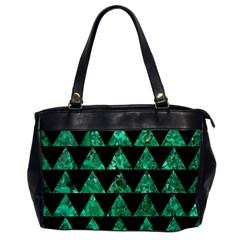 Triangle2 Black Marble & Green Marble Oversize Office Handbag by trendistuff