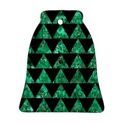 TRI2 BK-GR MARBLE Bell Ornament (2 Sides) by trendistuff