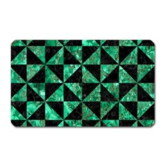 Triangle1 Black Marble & Green Marble Magnet (rectangular) by trendistuff