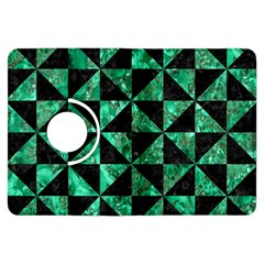 Triangle1 Black Marble & Green Marble Kindle Fire Hdx Flip 360 Case by trendistuff