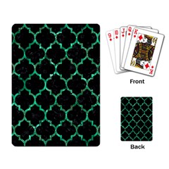 Tile1 Black Marble & Green Marble (r) Playing Cards Single Design by trendistuff