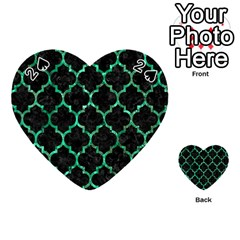 Tile1 Black Marble & Green Marble (r) Playing Cards 54 (heart) by trendistuff