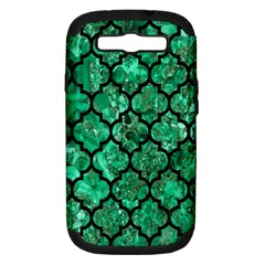 Tile1 Black Marble & Green Marble Samsung Galaxy S Iii Hardshell Case (pc+silicone) by trendistuff