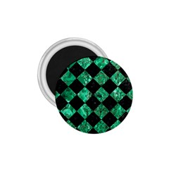Square2 Black Marble & Green Marble 1 75  Magnet by trendistuff