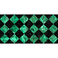 Square2 Black Marble & Green Marble You Are Invited 3d Greeting Card (8x4) by trendistuff