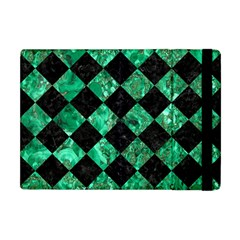 Square2 Black Marble & Green Marble Apple Ipad Mini Flip Case by trendistuff