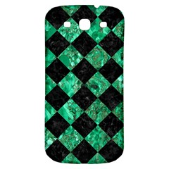 Square2 Black Marble & Green Marble Samsung Galaxy S3 S Iii Classic Hardshell Back Case by trendistuff