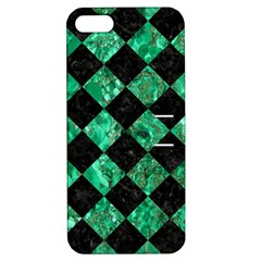 Square2 Black Marble & Green Marble Apple Iphone 5 Hardshell Case With Stand by trendistuff