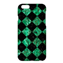 Square2 Black Marble & Green Marble Apple Iphone 6 Plus/6s Plus Hardshell Case by trendistuff