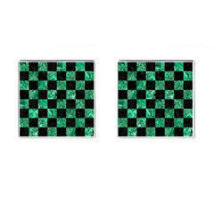 Square1 Black Marble & Green Marble Cufflinks (square) by trendistuff