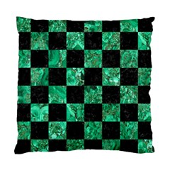 Square1 Black Marble & Green Marble Standard Cushion Case (one Side) by trendistuff