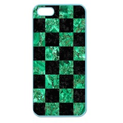 Square1 Black Marble & Green Marble Apple Seamless Iphone 5 Case (color) by trendistuff