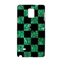 Square1 Black Marble & Green Marble Samsung Galaxy Note 4 Hardshell Case by trendistuff