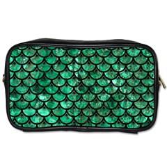 Scales3 Black Marble & Green Marble Toiletries Bag (one Side) by trendistuff