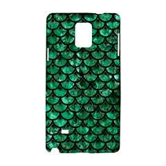 Scales3 Black Marble & Green Marble Samsung Galaxy Note 4 Hardshell Case by trendistuff