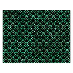 Scales2 Black Marble & Green Marble (r) Jigsaw Puzzle (rectangular) by trendistuff