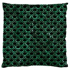 Scales2 Black Marble & Green Marble (r) Standard Flano Cushion Case (one Side) by trendistuff
