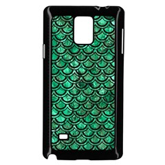 Scales2 Black Marble & Green Marble Samsung Galaxy Note 4 Case (black) by trendistuff