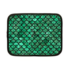 Scales1 Black Marble & Green Marble Netbook Case (small) by trendistuff