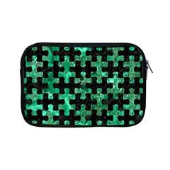 Puzzle1 Black Marble & Green Marble Apple Ipad Mini Zipper Case by trendistuff