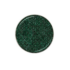 Hexagon1 Black Marble & Green Marble (r) Hat Clip Ball Marker (4 Pack) by trendistuff