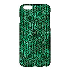 Hexagon1 Black Marble & Green Marble Apple Iphone 6 Plus/6s Plus Hardshell Case by trendistuff