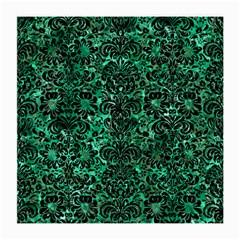 Damask2 Black Marble & Green Marble Medium Glasses Cloth by trendistuff
