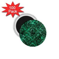 Damask1 Black Marble & Green Marble (r) 1 75  Magnet (100 Pack)  by trendistuff