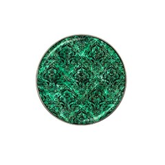 Damask1 Black Marble & Green Marble (r) Hat Clip Ball Marker by trendistuff
